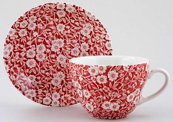 Burleigh Calico Red Breakfast cup \w saucer