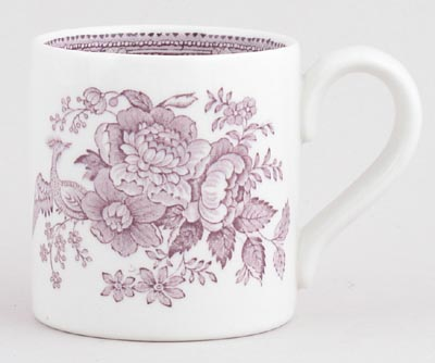 Burleigh Asiatic Pheasants Plum Tea Mug Small
