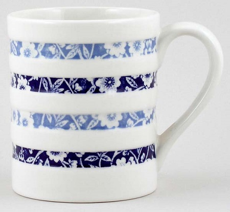 Burleigh Calico Mug Hooped Blue