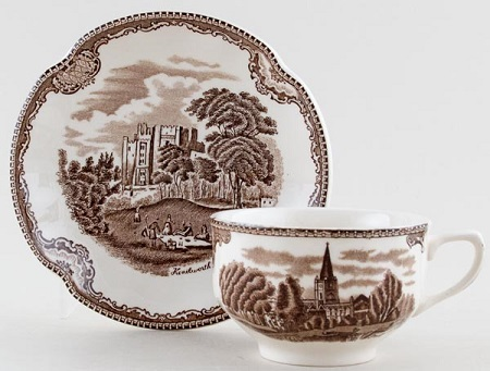 Johnson Bros Old Britain Castles brown Teacup and Saucer