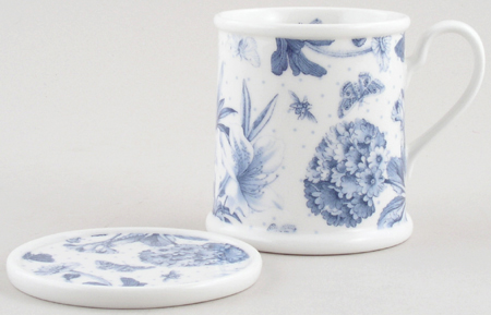 Portmeirion Botanic Blue Mug and Coaster