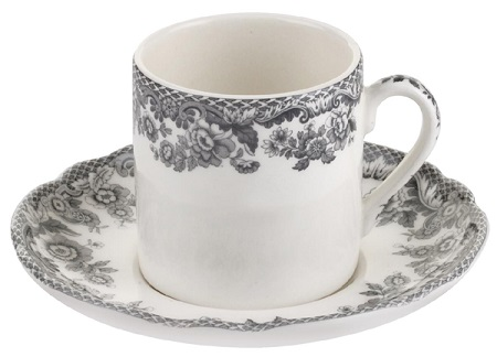 Spode Delamere Rural grey Coffee Cup and Saucer
