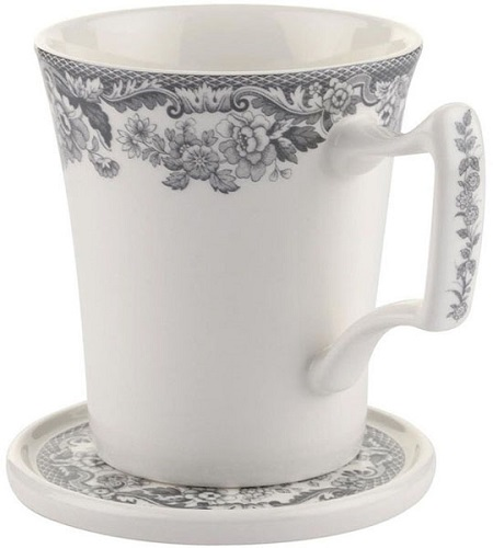 Spode Delamere Rural grey Mug and Coaster