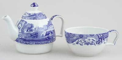 Spode Blue Italian Tea For One Set