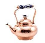 Solid Copper Hammered Tea Kettle w/Ceramic Knob Handle