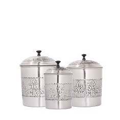 Antique Embossed Victoria Canister Set