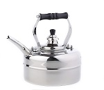 Stainless Steel Windsor Whistling Teakettle w/Wood Handle