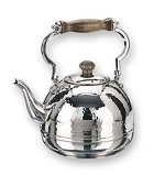 Stainless Steel Hammered Tea Kettle w/Wood Handle