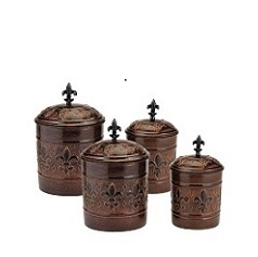 Versailles Canister w/Fresh Seal Covers
