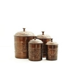 Antique Embossed Heritage Canister Set