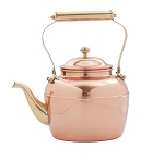 Solid Copper Tea Kettle w/ Brass Spout Handle