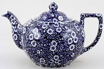 Burleigh Blue Calico Teapot (small)