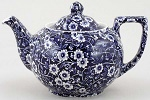 Burleigh Blue Calico Teapot (large)