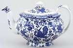 Burleigh Regal Peacock blue Teapot large