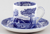 Spode Blue Italian Coffee Cup and Saucer