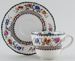 Spode Chinese Rose colour Teacup and Saucer