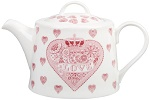Queens Made with love teapot